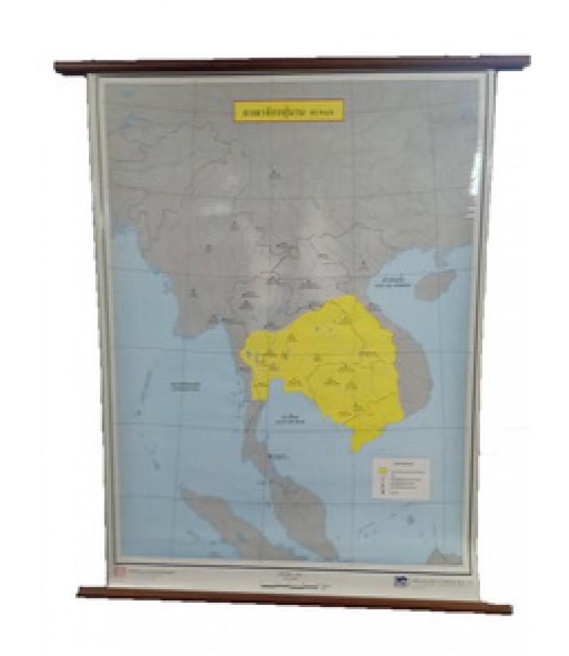 แผนที่อาณาจักรฟูนาน