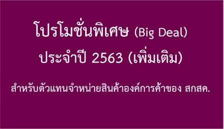โปรโมชั่นพิเศษ (Big Deal) ประจำปี 2563 (เพิ่มเติม)