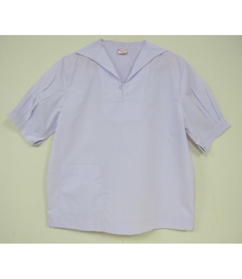 เสื้อนักเรียนมัธยม(ขยายโอกาส)#66 (ปกทหารเรือ) อก 42 นิ้ว ยาว 25 นิ้ว