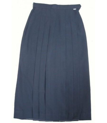 กระโปรงมัธยมผ้าโทเร สีกรมท่า #32x29 (ความยาวxเอว)นิ้ว