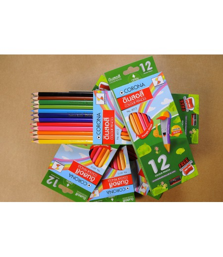 ดินสอสี 12 สี แบรนด์ S