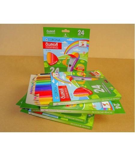 ดินสอสี 24 สี แบรนด์ S