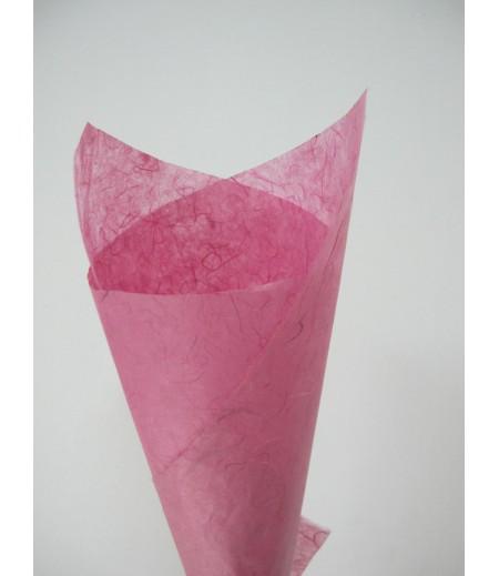 กระดาษสาสีชมพู 25 แกรม 1 ชุด (10 แผ่น)