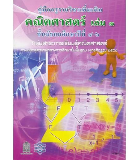 คู่มือครูเพิ่มเติม คณิตศาสตร์ ม.4-6 เล่ม1 (สสวท)